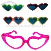 Large heart-shaped glasses