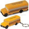 School Bus Shaped Stress Ball with Keychain
