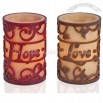 Carved Overlay Candle-Faith, Hope, and Love