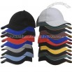 Baseball Cap Brushed Heavy Cotton with Sandwich Trim