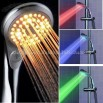 LED Shower With Temperatured Controlled Three Color And Switch - No Battery Needed