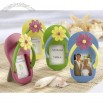 Flip-Flop Photo Frame with Flower Accent (Set of Four)