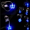 Fashion Blue LED necklaces/ LED flash pendant acrylic