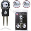 Team Golf New England Patriots Divot Tool & Ball Markers Set