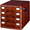 Peach Wood File Cabinet