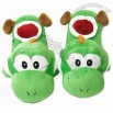Super Mario Brothers Yoshi Green Ver Slippers Plush