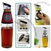 Press & Measure Oil & Vinegar Dispenser Bottle w/ Pump