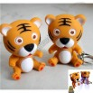 Tiger LED Flashlight Key chain with Sound Effects