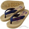 Upscale flip flop with a 3-layer sole, arch support and microfiber straps.