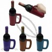 Mug Shaped Leather Wine Holder