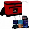 Insulated 6 Pack Cooler Bag with Bottle Holder