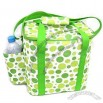 Insulated Cooler Bag with Polka Dots Pattern and 1 Side Water Bottle Holder