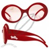 Jackie O' Red - Plastic Trendy Sunglasses