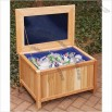 Cedar Creek Cedar Storage Bench / Ice Chest with Cushion Top
