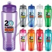 Poly Clean 28 oz plastic bottle with push-pull, easy drink-thru lid