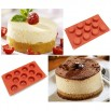 Freshware 11-Cavity Mini Cheesecake, Pudding and Muffin Silicone Mold and Baking Pan