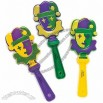 12 Mardi Gras Jester Hand Clappers