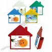 House Shaped Desk Calendars with Pen Case
