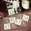 Amor Glass Coaster Wedding Favors