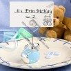 Blue Baby Bootie Place Card Holders
