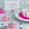 Pink crown design place card holders