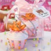 Teddy Bear-Inspired Delectable Pink Cupcake Candles