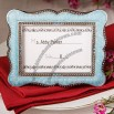 Victorian design frame/place-card holders - Blue