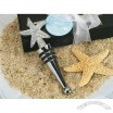 Chrome Starfish Design Wine Stopper