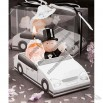 Bride In Wedding Car Environment Friendly Wax Candles