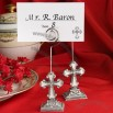 Elegant Cross Placecard Holder