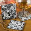 Black White Damask Design Coaster Favors