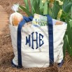 Monogrammed Canvas Beach Bag