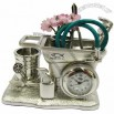 Gardening Wheelbarrow Desk Clock