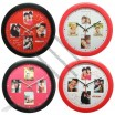 Round Wall Clock with Photo Frame