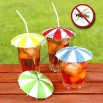 Festive umbrella drink toppers