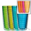 insulated tumbler set 24 oz cool colors