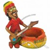 JAMAICAN MAN PLAYING GUITAR ASHTRAY