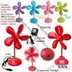 Flower Shape Desktop Soft Fan