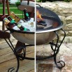 Stainless Steel Beverage Tub / Portable Fire Pit, 18
