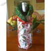 Christmas Wine Bottle Cover - Holiday Fabric
