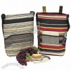 Picnic Gift Red Stripe Tango Insulated Two Bottle Carrier