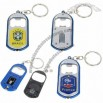 Cool National Football/Soccer Team Stainless Steel Bottle Opener Keychain with LED Light