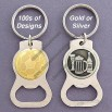Fun Bottle Opener Key Ring in Artistic Patterns
