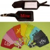 Monogrammed Luggage Tags - Personalized Leather Luggage Tags