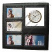 Leather Photo Frame Clock