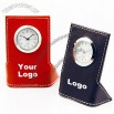 PU Hygrothermograph Table Clock Thermometer