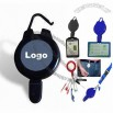 Retractable Badge Reel, Clips to your Pocket Belt Loop Cloth Zipper and Card Holder