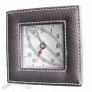 PU Leather Table Clock