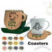 3 in 1 Coffee Mug Shaped Calendar and Coasters / Mouse Pad