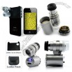 60X Magnification Mini Digital Microscope with LED Head Light and UV Light for iPhone 4